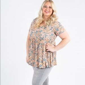 Muse Top- Blush/Gold